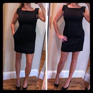 Black Halo satin feel little black dress size 0